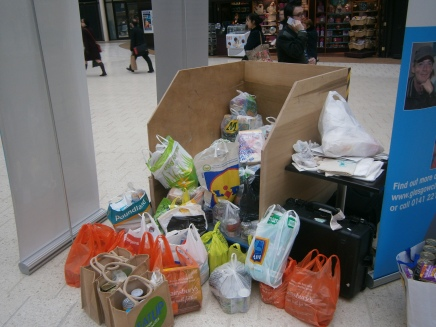 """Overwhelming Show of Support"" as Commuters Flood Food Drive"